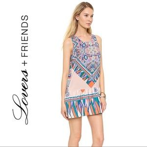 Lovers + Friends I Heart Babydoll Dress Ruffle XS